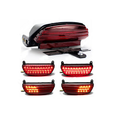 Tri Bar Fender LED Tail Turn signal Light Harley Softail FXSTB 2006-2016 cvo FXS