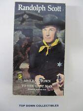 Randolph Scott, Abilene Town, To The Last Man 2 Movies    VHS Movie