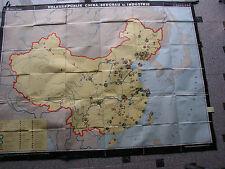 Wall Map China Coal Mining 213x165 1968 Vintage Wall Map Card Mining KMT 矿业