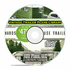 63 Antique Trailer Building Plans, Tear Drop Camper Plans and Guides PDF CD E72