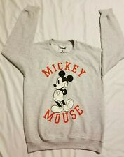 Disney Mickey Mouse Sweater Adult Small Gray