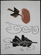 After Georges BRAQUE, Hors-texte Litho, Nuage en echec de Derriere Le Miroir