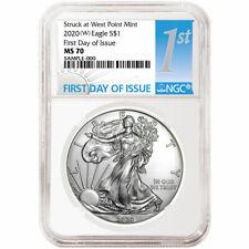 2020 (W) $1 American Silver Eagle NGC MS70 FDI First Label