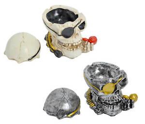 Totenkopf Aschenbecher Piraten-Look Totenschädel Schädeldecke