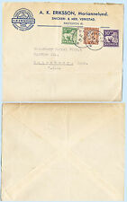 Sweden 1937 A K Eriksson Advertising Cover Verk to Waterbury Connecticut Usa