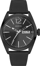Guess Uomo Orologio Watch Man Uhr Vertigo W0658G4 Pelle Nero Cassa Brunita Data
