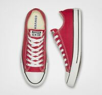 Converse Chuck Taylor All Star Red Low-Top Canvas Trainers Size UK 6  RRP £52