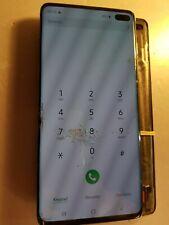 Ecran LCD SAMSUNG GALAXY S10+ G975 - vitre cassée + défaut - S10+4