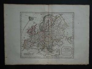1795 Robert de VAUGONDY  Atlas map  EUROPE