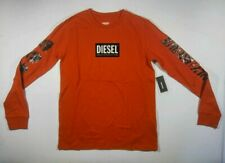 NWT Diesel TIDETY ONLY THE BRAVE Mohawk Red Long Sleeve T-Shirt Youth Sizes ANB