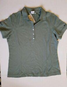 Nike Golf Polo Shirt Womens Large Green Short Sleeve Veolia Water