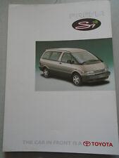 Toyota Previa Si brochure c1990's
