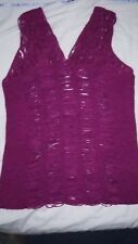 LADIES FUSCHIA SLASHED EFFECT TOP FROM SOUTH SIZE 14 - NEW