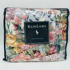"""Ralph Lauren Shower Curtain Allison Florals Flowers 72"""" x 72"""" Cottage Core"""