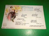 Cartolina Musicale Bideri - Ricordo di Napoli - Furturella 1910 ca