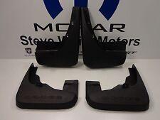 09-18 Dodge Journey New Front & Rear Flat Molded Splash Guards Black Mopar OEM