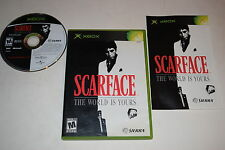 Scarface The World Is Yours Microsoft Xbox Video Game Complete