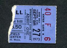 Original 1973 Jethro Tull concert ticket stub Springfield MA A Passion Play