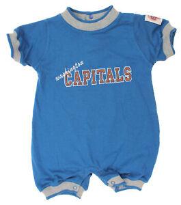 NHL Hockey Boys Girls Infant Washington Capitals Crew Neck Romper, Blue