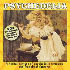 Various - Psychedelia. 5 CD box set Psych music '66-74 + 32 page booklet. Sealed
