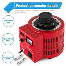 New Listingvariac Transformer Variable 1000va 1kva Ac Voltage Regulator 10a 0130v Us Plug