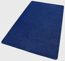 Brand New Blue Rug Classroom Play Mat, Office or Bedroom Rug Hypoallergenic