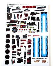 MILLENNIUM FALCON Electronic POTF 1995 Star Wars replacement Sticker set