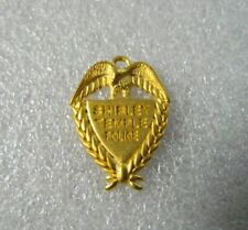 """Gold Shirley Temple Police Badge--1-1/4"""""""
