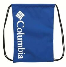 Columbia Blue Drawstring Bag Lightweight Backpack Travel Water Resistant