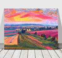 SPENCER GORE - The Icknield Way - CANVAS ART PRINT POSTER - Sunset - 24x16""