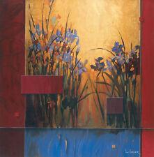 "35""x35"" IRIS SUNRISE by DON LI-LEGER FLORAL ART TO CANVAS"