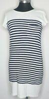JOIE Black White Striped Soft Cotton T-shirt Dress Short Sleeve Women's Size XS