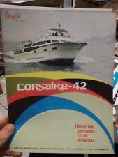 Cheoy Lee Corsaire 42 barca brochure advertisement  1973 nautica boat yacht