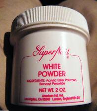 SUPERNAIL ACRYLIC WHITE POWDER 2 OZ -  FREE SHIPPING