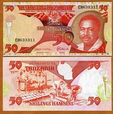 Tanzania / Africa, 50 Shilingi, ND (1992), P-19, UNC