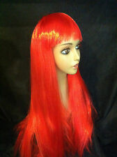Long Costume Party CosPlay Straight Red Wig  Hair - Approx 63cm long