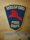 ROSSFORD OHIO FIRE DEPARTMENT PATCH Wood County Firefighter Rescue Fireman