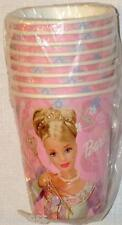 NEW  ~BARBIE DREAM TIME~  8  CUPS HOT/COLD  VINTAGE  PARTY SUPPLIES