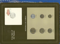 Coin Sets of All Nations Cyprus UNC 1983-1994 1,5,10 Cents 1994 27JY94