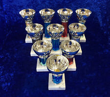BARGAIN BOX of 10 Bowl Cup Awards Trophy set of 10 Sport Dance School FREE eng