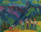 Ernst Ludwig Kirchner  Bergheuer Heuer On The Alp Canvas Print 16 x 20  #8985
