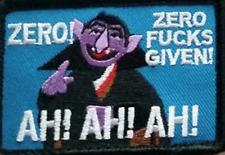 The Count Zero Fu*ks Given Morale Patch Tad Pdw Motus Go ruck Gear