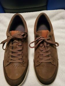 Ecco Mens HydroMax brown suede golf shoes size 9.5 or 10 Eu 42 Golf shoe