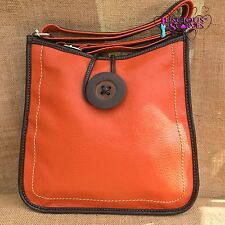 New Ladies Big Button Faux Leather Cross body Bag Handbag 14 Colours Available