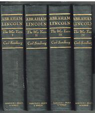 Abraham Lincoln: The War Years by Carl Sandburg 1939 17th Pr  Civil War Books