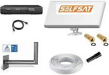 Sat Anlage 1 Teilnehmer Selfsat H30D1 Antenne + HD Receiver + Wandhalter+Hdmi