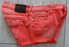 TRUE RELIGION JOEY CUTOFF Damen Jeansshort Hot Pants Sexy Short Gr.28 NEU