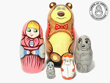 Masha and the Bear Nesting Doll, 5 pcs 4.25''/ 11 сm