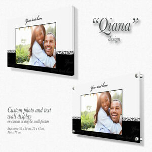 Personalised Canvas / Acrylic wall picture with custom text Gift Present Qiana
