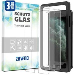 3x Panzerfolie iPhone 6 7 8 Plus MIT INSTALLATIONSRAHMEN Display Schutz Hartglas